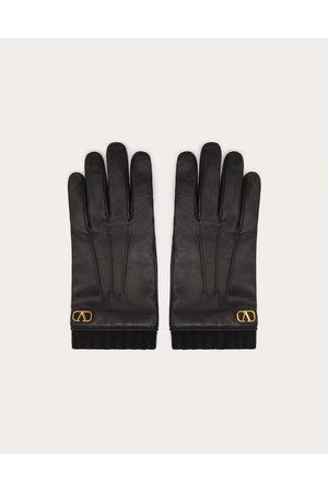 VALENTINO GARAVANI Men Gloves - Vlogo Signature Leather Gloves Man 100% Lambskin 10
