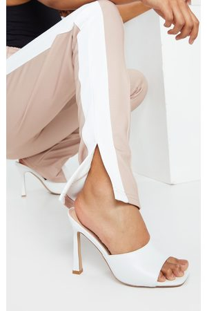 PRETTYLITTLETHING Women Heels - Square Toe Mule High Heels