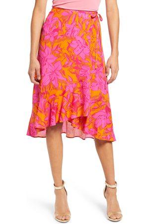 4SI3NNA Women's Maia Floral Print Wrap Skirt
