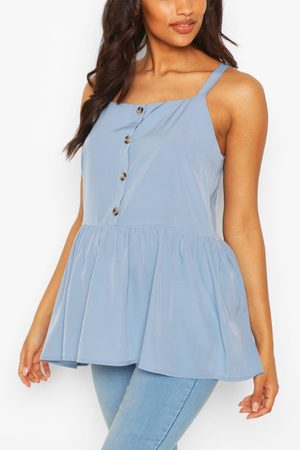 Boohoo Womens Maternity Button Front Cami Smock Top - - 4