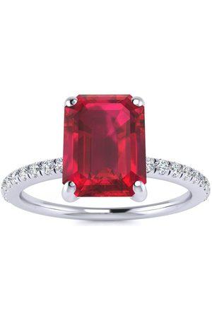 SuperJeweler 3 Carat Ruby & 22 Diamond Ring in 14K (2.6 g)