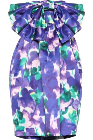 RICHARD QUINN Floral satin strapless minidress
