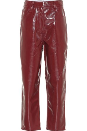 tibi Faux leather cropped pants