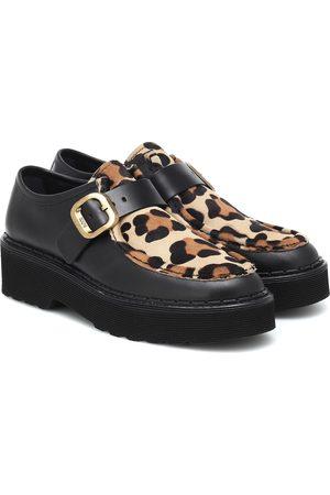 Tod's Leopard-print platform loafers