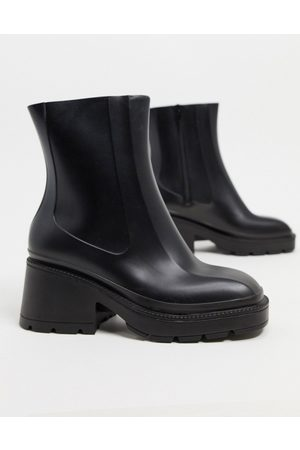 ASOS Grounded heeled rain boots in
