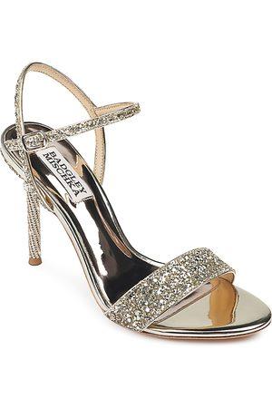 Badgley Mischka Women's Olympia Glitter & Crystal High Heel Sandals