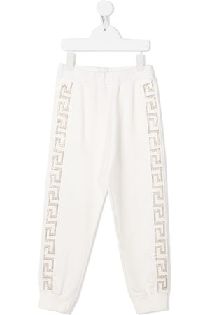 VERSACE TEEN crystal-embellished track pants