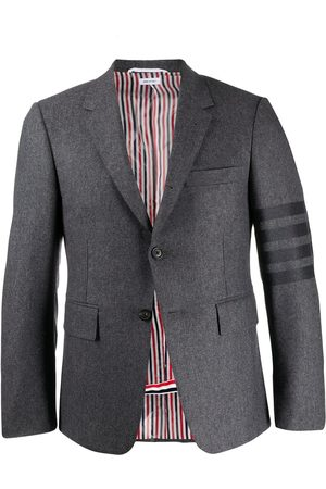 Thom Browne Flannel classic tonal 4-bar sport blazer - Grey