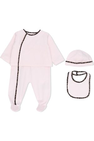 Fendi Contrast piping babygrow set