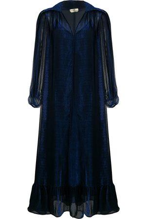 Fendi Velvet-effect flared midi dress