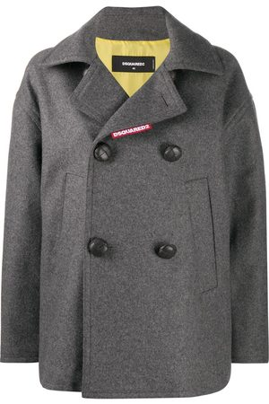 Dsquared2 Double-breasted long-sleeve jacket - Grey
