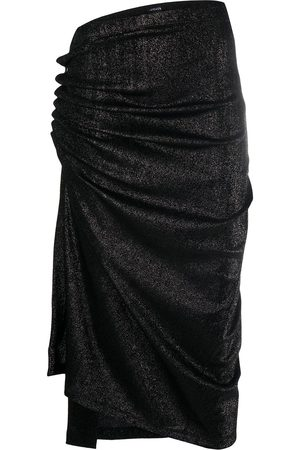 Paco rabanne Metallic threaded asymmetric skirt