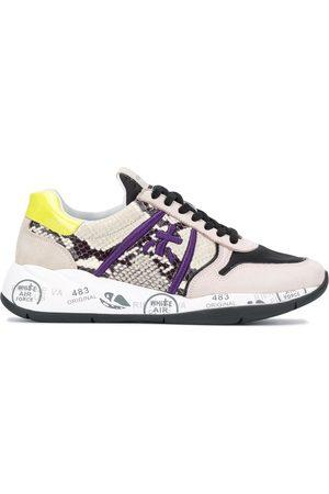 Premiata Women Sneakers - Layla snakeskin-effect sneakers - Neutrals
