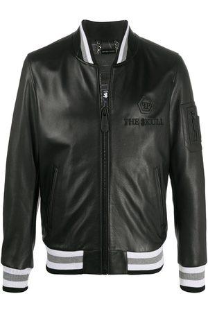 Philipp Plein Outline skull bomber jacket