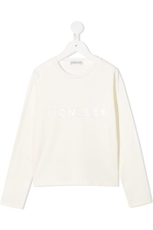 Moncler Logo-patch sweatshirt - Neutrals