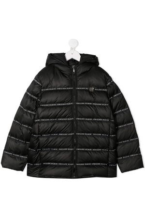 Philipp Plein Branded puffer coat