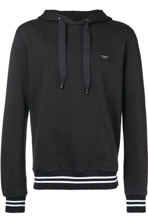 Dolce & Gabbana Logo plaque hoodie - Grey
