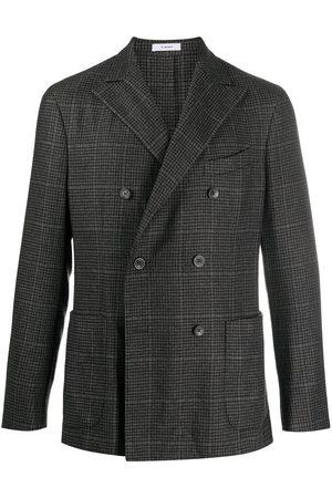 Boglioli Men Blazers - Double-breasted check pattern blazer - Grey
