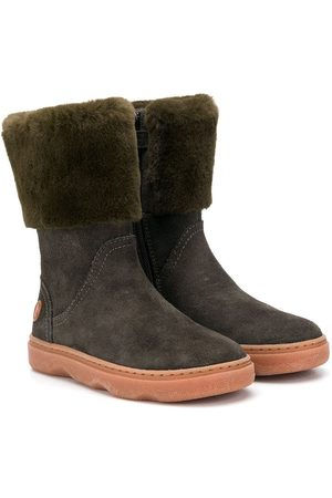 Camper Kids Calf-length fur-detail boots