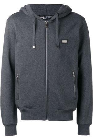Dolce & Gabbana Drawstring zip hoodie - Grey