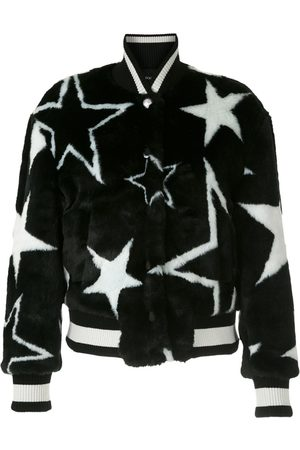 Dolce & Gabbana Faux-fur star print bomber jacket