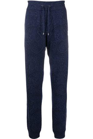 Etro Men Sweatpants - Paisley print cashmere sweatpants