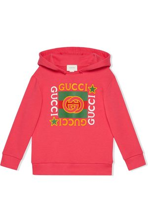 Gucci Boys Hoodies - Logo print hoodie