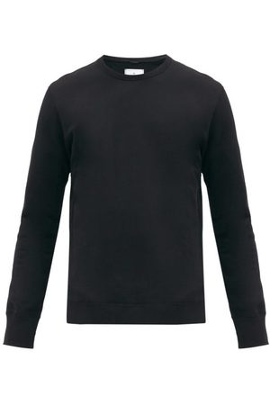Reigning Champ Men Sweatshirts - Logo-patch Cotton-terry Sweatshirt - Mens