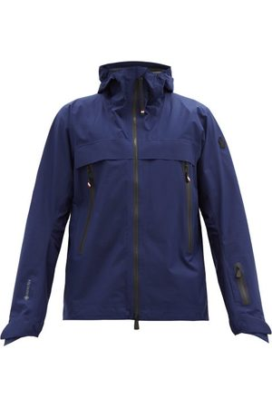 Moncler Men Ski Suits - Villair Gore-tex Hooded Ski Jacket - Mens - Navy