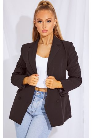 PRETTYLITTLETHING Double Breasted Covered Button Blazer