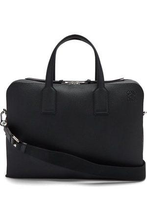 Loewe Men Laptop Bags - Goya Anagram-debossed Grained-leather Briefcase - Mens