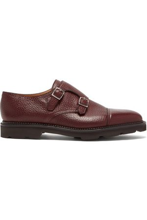 JOHN LOBB William Monk-strap Leather Shoes - Mens - Burgundy