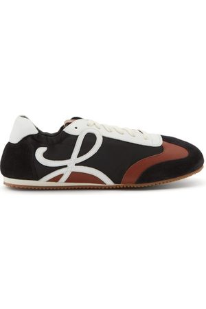Loewe Ballet Runner Nylon And Leather Trainers - Mens