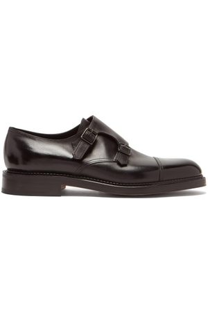 JOHN LOBB William Monk Strap Leather Shoes - Mens