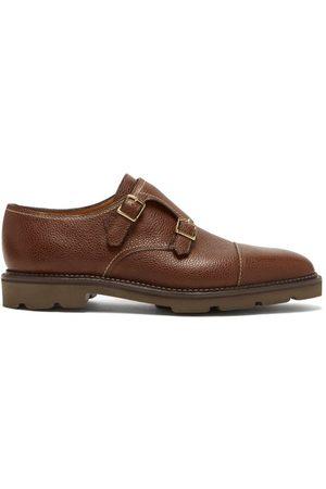 JOHN LOBB William Monk-strap Leather Shoes - Mens - Dark