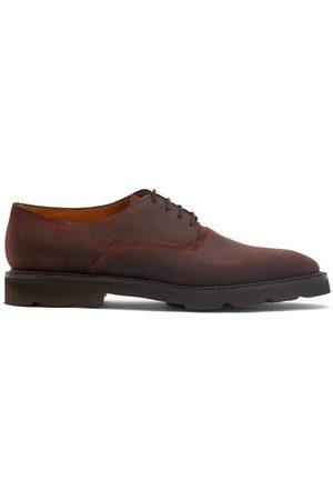 JOHN LOBB Milton Waxed-suede Derby Shoes - Mens - Dark