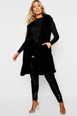 Boohoo Womens Plus Shaggy Faux Fur Gilet - - 12
