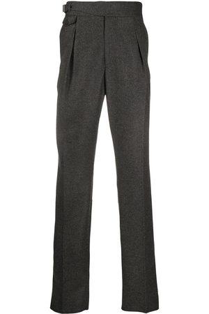 Alexander McQueen Straight-leg wool trousers - Grey