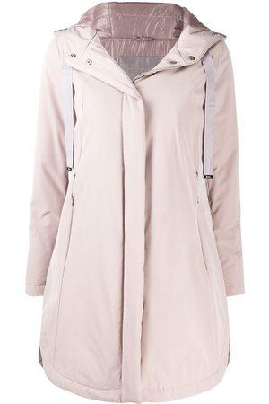 HERNO Drawstring-hood midi raincoat