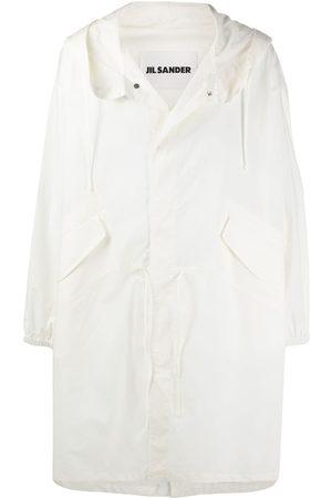 Jil Sander Men Parkas - Logo-print coat