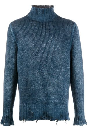 AVANT TOI Distressed funnel neck jumper