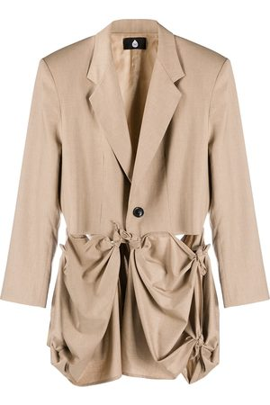 DUOltd Men Trench Coats - Draped trench coat - Neutrals