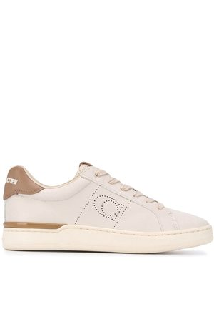 Coach Women Sneakers - Low-top perforated sneakers - Neutrals