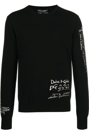 Dolce & Gabbana Cashmere sweater with logo doodle embroidery