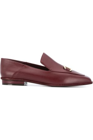 Salvatore Ferragamo Logo plaque leather loafers