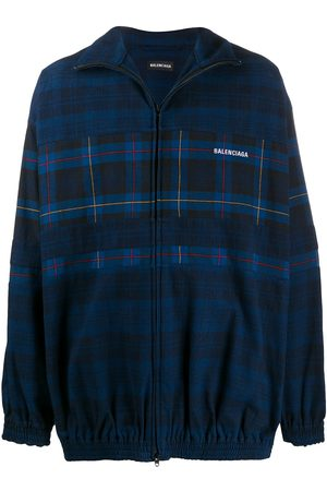 Balenciaga Check print zip-up jacket
