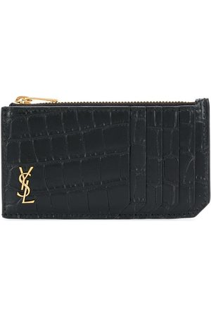Saint Laurent Fragments crocodile-effect wallet