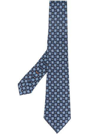 Ermenegildo Zegna Jacquard floral pattern silk tie