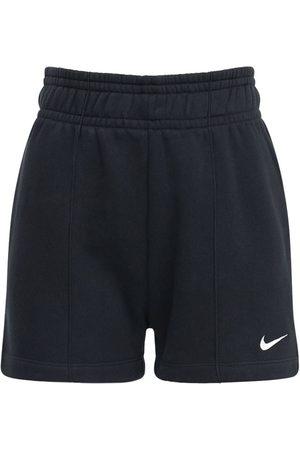 Nike Logo Cotton Blend Fleece Sweat Shorts