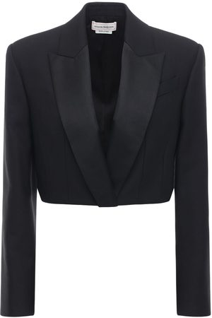 Alexander McQueen Light Wool Blend Crop Jacket